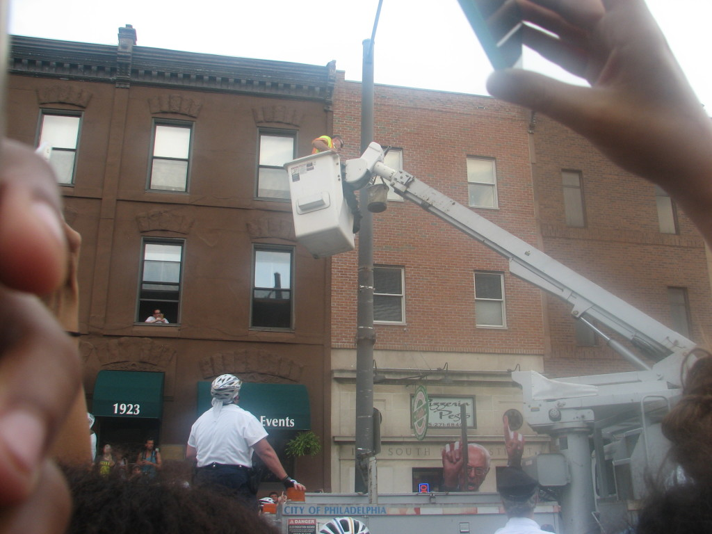 Flag is snatched down...