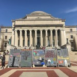 A photo from a past Israeli Apartheid Week (the first week of April) on Columbia's campus, organized by CSJP.